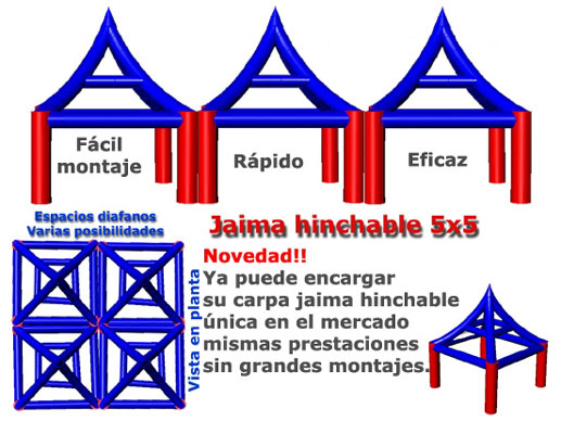 jaimas gonflables